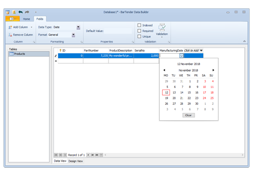 BarTender Software Screenshot
