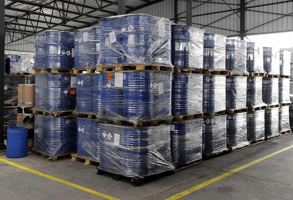 Chemical Drums Packed for Despatch